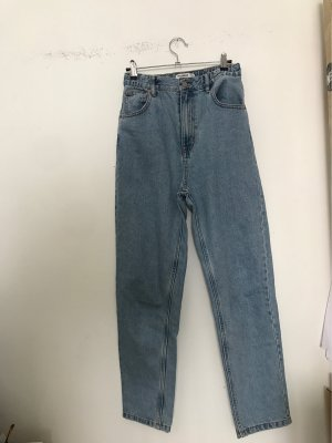 super high waisted jeans hellblau