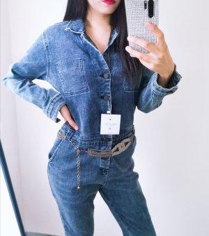 Super hochwertig jeans Jumpsuit mit Gurtel