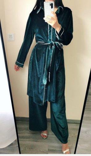 super hochwertig Samt Set Kombiteil Lang Blazer +Hose Emerald Smaragd