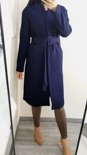 Kira Plastinina Wełniany płaszcz ciemnoniebieski