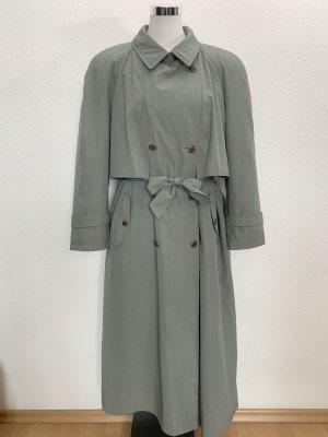 Vintage Trenchcoat bleu pâle-gris ardoise