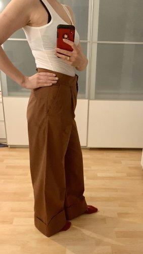 COS Pantalon en jersey cognac