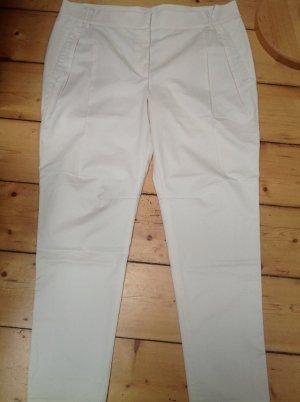 Gunex Pantalón de pinza blanco puro Algodón