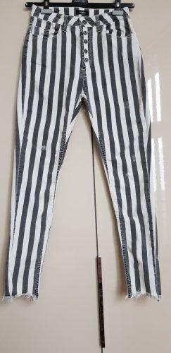 Tigha Pantalon cigarette blanc-gris