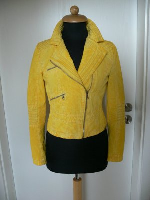 Laura Jo Biker Jacket gold orange cotton