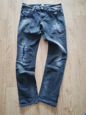 Boss Orange Straight Leg Jeans black-blue