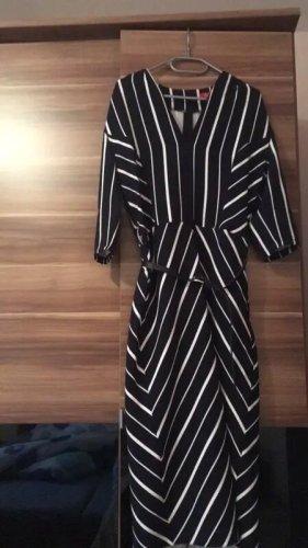 0039 Italy Midi-jurk zwart-wit