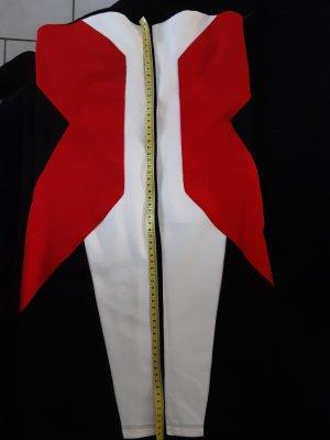 Super kurzes Cocktailkleid/Sommerkleid,  Größe M, trägerlos, schwarz-creme-rot.