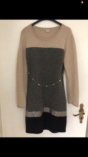 Esprit Vestito di lana grigio scuro-color cammello