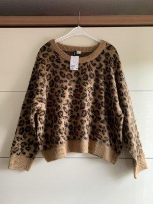 Super kuschliger Pullover mit Leopardenmuster und Rundhalsausschnitt