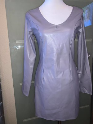 Leather Dress silver-colored leather