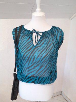 super leichte Bluse, Tigerlook, XS, durchsichtig,Madonna