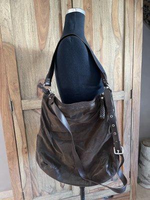 0039 Italy Sac porté épaule brun noir