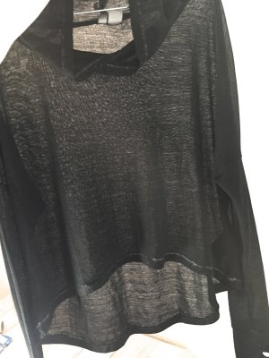 H&M Divided Hooded Sweater black-grey mixture fibre