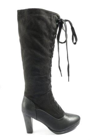 Super Me Botas con cordones negro look casual