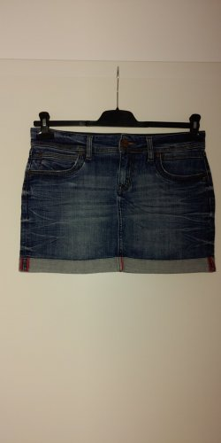 CROSS JEANS Miniskirt steel blue cotton