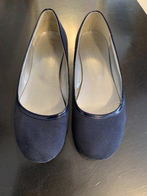 Super Mode Slingback ballerina's donkerblauw
