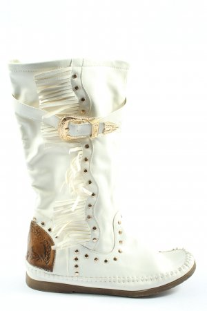 Super Mode Booties weiß Street-Fashion-Look