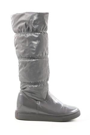 Super Mode Botte en caoutchouc gris clair motif de courtepointe