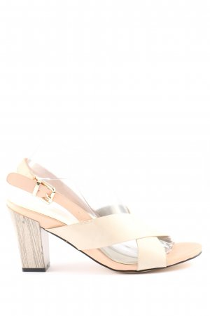 Super Mode High Heel Sandaletten creme Elegant