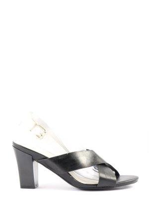 Super Mode High Heel Sandaletten schwarz-wollweiß Casual-Look