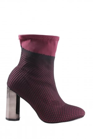 Super Mode High Heels pink-schwarz extravaganter Stil