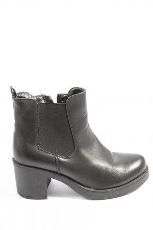 Super Mode Reißverschluss-Stiefeletten schwarz Casual-Look
