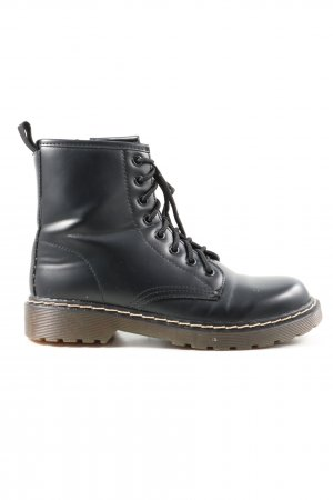 Super Mode Lace-up Booties black casual look