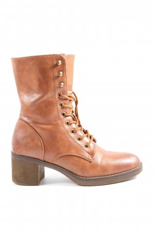 Super Mode Lace-up Boots brown casual look