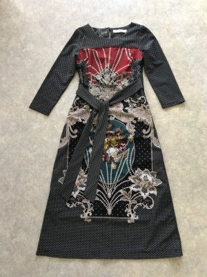 Super Print Kleid mit Schleife