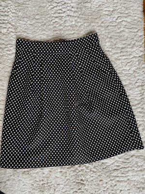 Hallhuber Spódnica midi czarny-biały