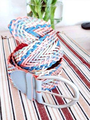 Cinturón trenzado multicolor
