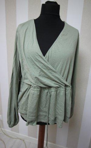 H&M Camisa tipo túnica verde pálido