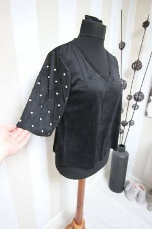 Camisa tipo túnica negro-color plata