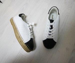 Chaussures à lacets noir-blanc