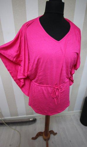 Camisa tipo túnica rosa