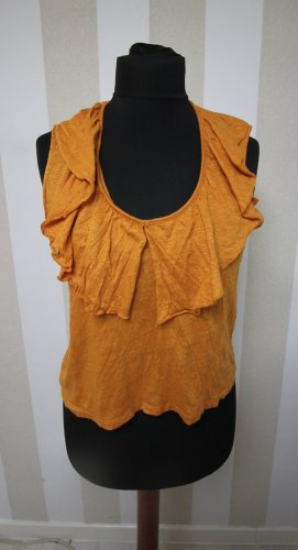 Zara Camisa tipo túnica naranja oscuro