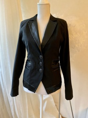 Butik Leather Blazer black