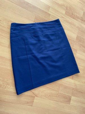 Comma Falda de talle alto azul