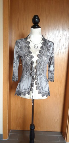 Tredy Veste chemise gris clair-taupe