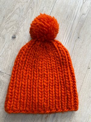 COS Chapeau en tricot orange laine