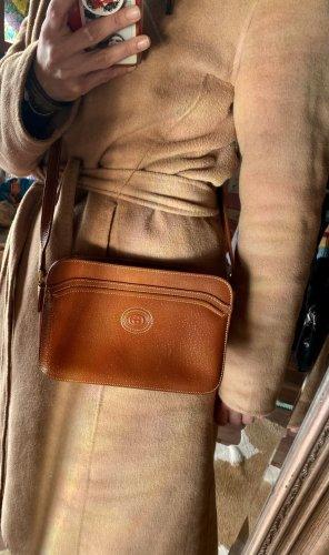 Super schöne Gucci Leder Tasche Umhängetasche Cognac braun Vintage