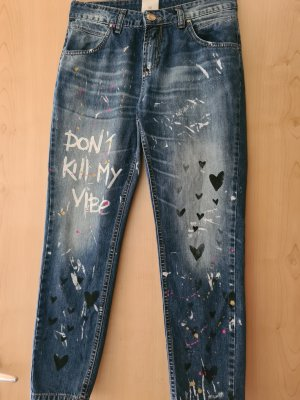 Jeans a carota blu
