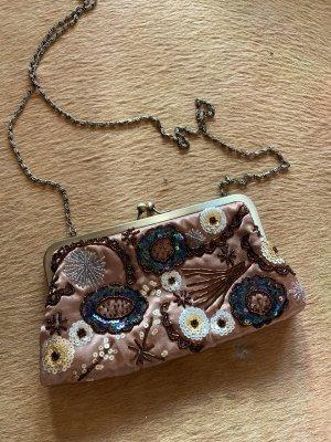 Super schöne kleine Original True vintage Tasche Umhängetasche bunt mit Pailletten