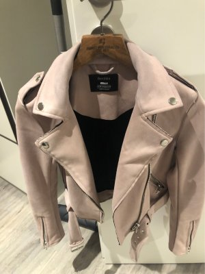 Bershka Giacca in ecopelle color oro rosa-argento