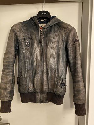 Alprausch Leather Jacket slate-gray leather