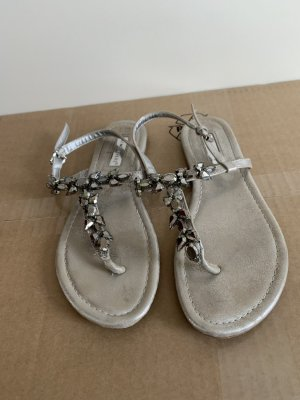 Atmosphere T-Strap Sandals silver-colored