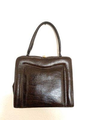 Super schöne Vintagetasche/ Henkeltasche in dunkelbraun