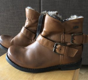 Buffalo Winter Booties cognac-coloured