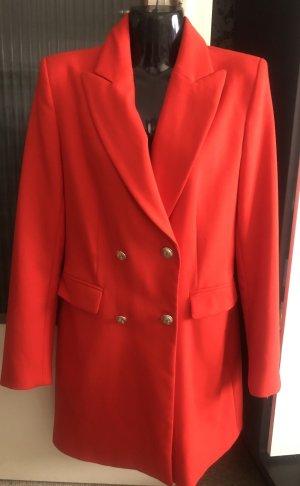 Super schöner Blazer Mantel Zara in rot Gr. M. Neu.